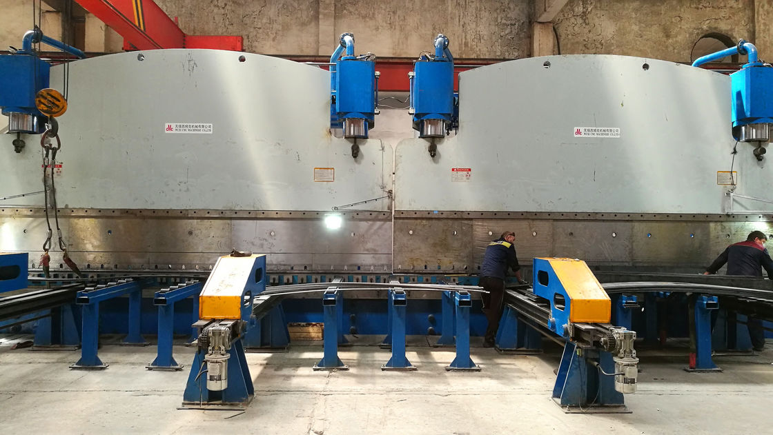 Double linkage cnc hydraulic plate bending machine for light pole production line